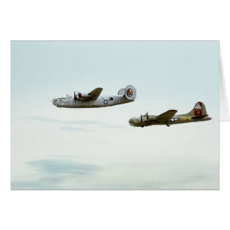 B24 and B17 Flying Note Card