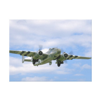 B25, Front Right View_WWII Planes Canvas Print