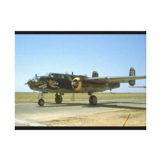 B25, Heavenly Body._WWII Planes Canvas Print