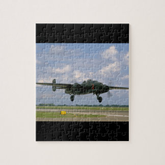 B25 Just Before Landing_WWII Planes Jigsaw Puzzle