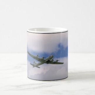 B29, Blue Sky And Clouds_WWII Planes Coffee Mug