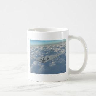 B2 Bomber Above the Clouds Basic White Mug