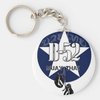 B52 MUAY THAI BASIC ROUND BUTTON KEY RING