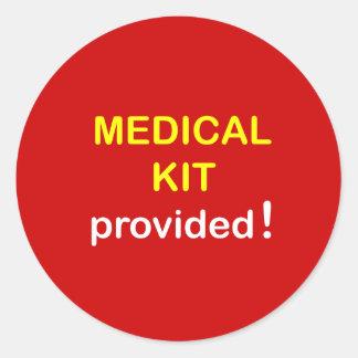 b5 - Medical Kit Provided. Round Sticker