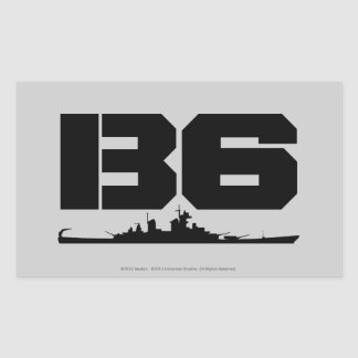 B6 RECTANGULAR STICKER