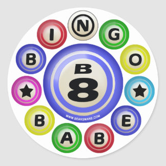 B8 Bingo Babe Classic Round Sticker