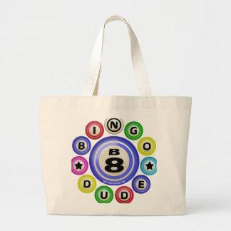 B8 Bingo Dude Canvas Bags