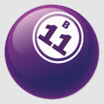 B 11 BINGO BALL ROUND STICKER