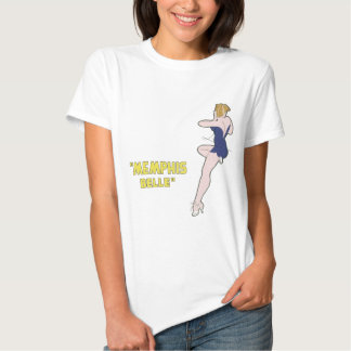 B-17 Flying Fortress Memphis Belle Nose Art Tshirts