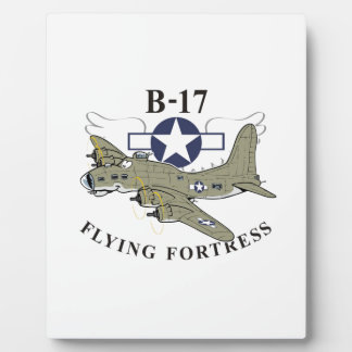 B-17 flying fortress plaque