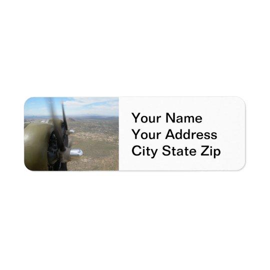 B-17 Propellers Address Labels