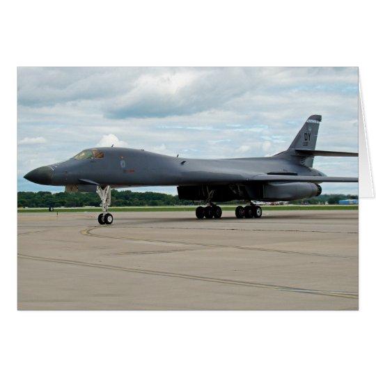 B-1B Lancer Bomber on Ground Card