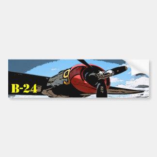 B-24 Wing Bumper Sticker