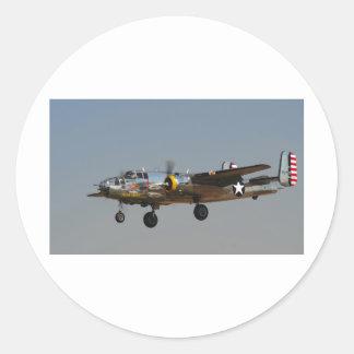 B-25 BOMBER ROUND STICKERS