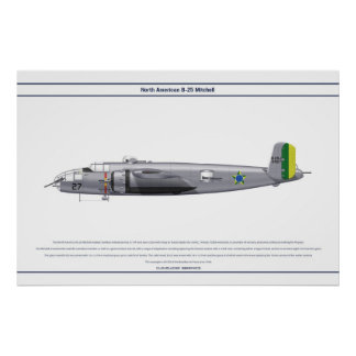B-25 Brazil 1 Poster