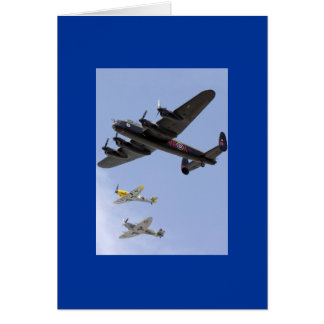 B-25 Liberator P-51 Mustang Greeting Card
