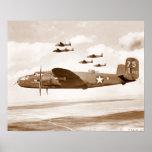 B-25 Mitchell Bomber flight poster