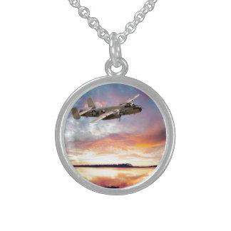 B-25 Mitchell Round Pendant Necklace