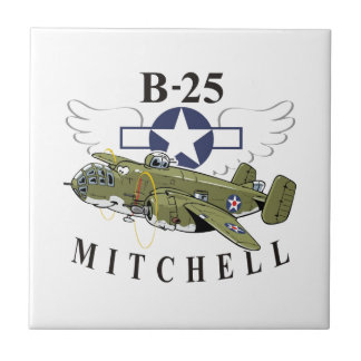 B-25 Mitchell Small Square Tile