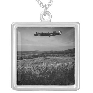 B-25 Mitchell Square Pendant Necklace