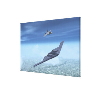 B-2 Spirit & F-22 Raptor Canvas Print
