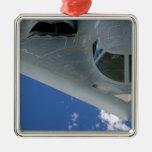 B-2 Spirit Silver-Colored Square Decoration