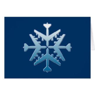 B-52 Aircraft Snowflake Greeting Card