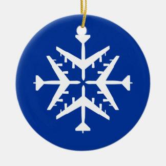 B-52 Aircraft Snowflake Christmas Ornament