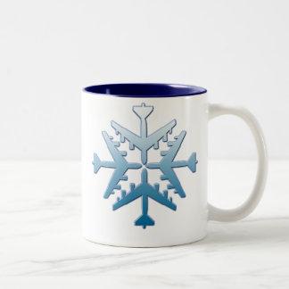 B-52 Aircraft Snowflake Mugs