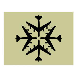 B-52 Aircraft Snowflake Post Cards