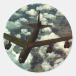 B-52 Bomber Round Sticker
