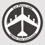 B-52 Peace sign Round Sticker