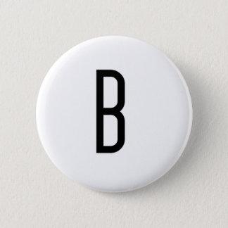 B 6 CM ROUND BADGE