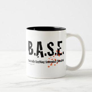 B.A.S.E. Jumping Skydiver Two-Tone Mug