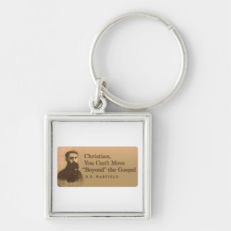B.B. Warfield Gospel Quote Silver-Colored Square Key Ring