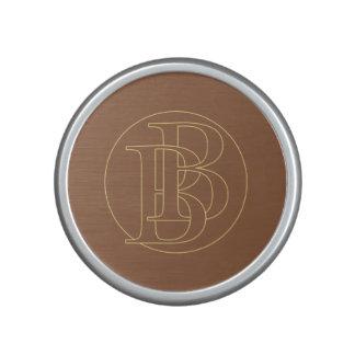 """B&B"" your monogram on ""iced coffee"" color Bluetooth Speaker"