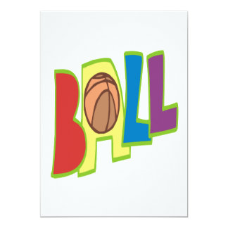 B Ball 13 Cm X 18 Cm Invitation Card