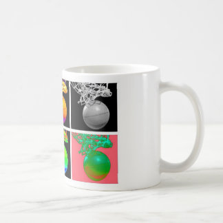 B-Ball Basketball Hoops Pop Art Coffee Mug