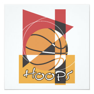B-Ball Hoops T-shirts and Gifts 13 Cm X 13 Cm Square Invitation Card