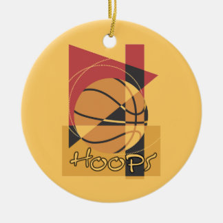 B-Ball Hoops T-shirts and Gifts Round Ceramic Decoration