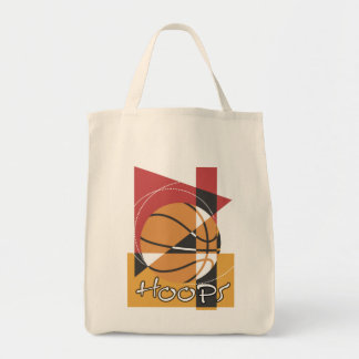 B-Ball Hoops T-shirts and Gifts Grocery Tote Bag