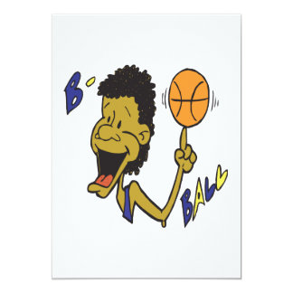 B Ball 13 Cm X 18 Cm Invitation Card