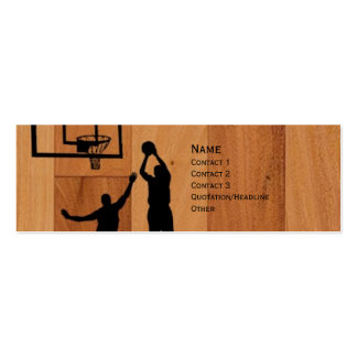 B-ball Pack Of Skinny Business Cards
