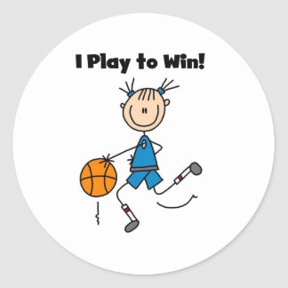 B-Ball Play to Win Round Sticker