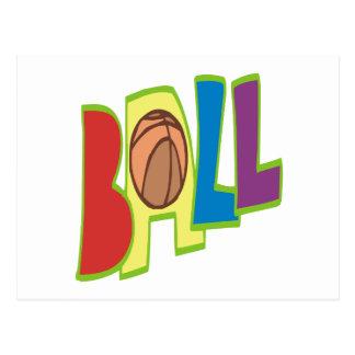 B Ball Postcard