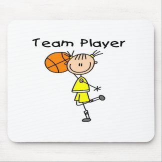 B-Ball Team Player Mouse Pad