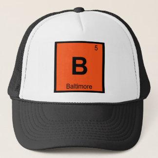 B - Baltimore Maryland Chemistry Periodic Table Trucker Hat