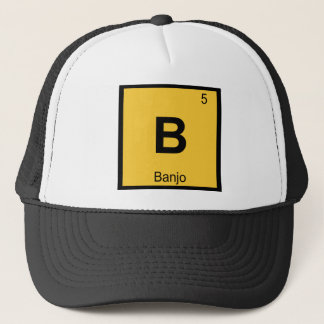 B - Banjo Music Chemistry Periodic Table Symbol Trucker Hat
