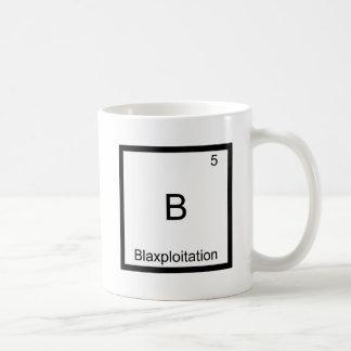 B - Blaxploitation Funny Chemistry Element Symbol Basic White Mug