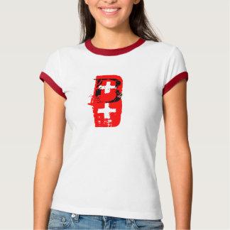 B+ = blood type t-shirts